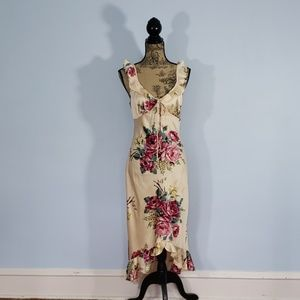 Betsey Johnson Vintage Floral Silk Dress